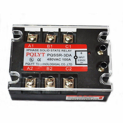 THREE PHASE 3PHASE DC AC SOLID STATE RELAY SSR-100A 100A Top Quality