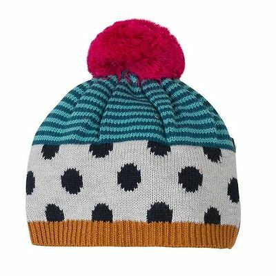 Catimini Teal Patterned Knitted Hat