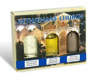 3 in 1 Holy Earth, Water, Anointing Oil Holy Land Bible Christian Jesus Gift Set