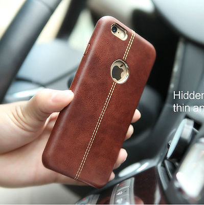 Luxury Ultra-thin Genuine Leather Back Case Cover For iPhone XS Max 8 7 6S Plus
