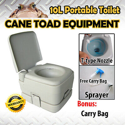 Portable Toilet 10L Outdoor Camping Potty W Carry Bag Caravan Camp Boating
