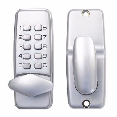 Keyless Door Lock Mechanical Code Keypad Password Security Hardware