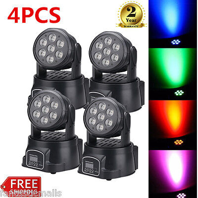 4x 7*8W LED RGBW 4in1 DMX Spot Moving Head Stage Light DJ Disco Club Effect Lamp
