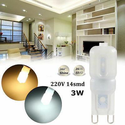 G9 3W 5W Led Dimmable Capsule Light Bulb Replace Halogen Cool Warm White 220V