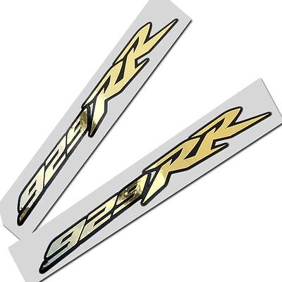 CBR FIREBLADE 929 RR  gold chrome on black motorcycle graphics decals stickers