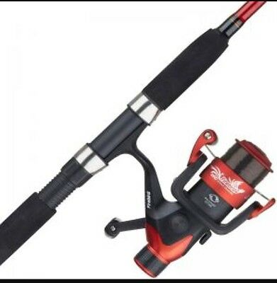 Shakespeare Firebird 10ft Multi Feeder Fishing Rod 2 Tip Red & Reel with Line