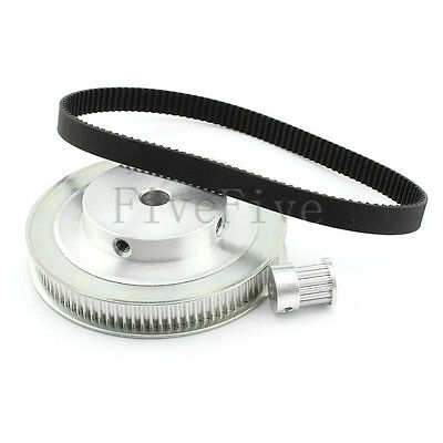 HTD 3M 90/18 Teeth Timing Pulley Belt Width 10mm Set Kit Reduction Ratio 5:1