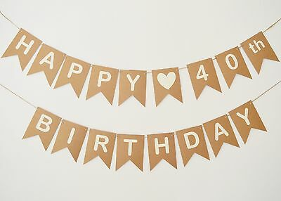 PERSONALISED BEER BIRTHDAY Bunting Decoration 30th 40th 50th Banner