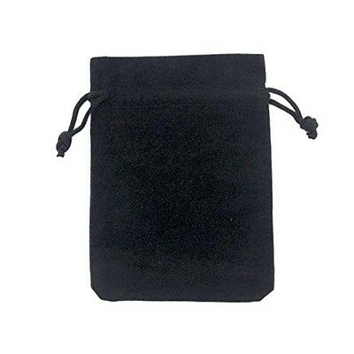 Adorox Small Black Velvet Jewelry Drawstring Gift Pouches Bags Wedding Favors