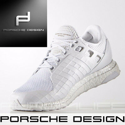 promo code 854fa bbfc9 Adidas Porsche Design Shoes Ultra Boost Mens Sport White SIZE UK 11 BB0682  NEW