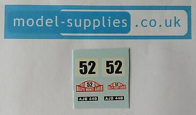 Corgi 321 Mini Cooper Monte Carlo no. 52 waterslide decal set