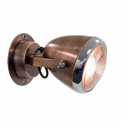 New Copper Retro Industrial Vespa Scooter Headlight Indoor Wall Reading Lights