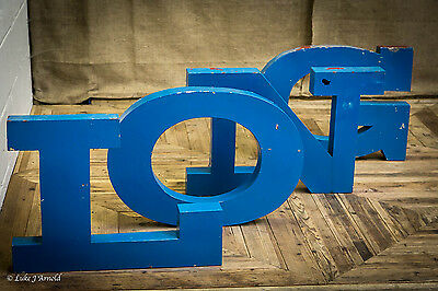 Antique Vintage Mid 20th Century LONG Sign Marquee Letters