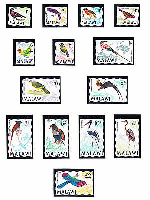 MALAWI 1968 SG310/23 - Birds - set of 14 - superb unmounted mint. Catalogue £70.