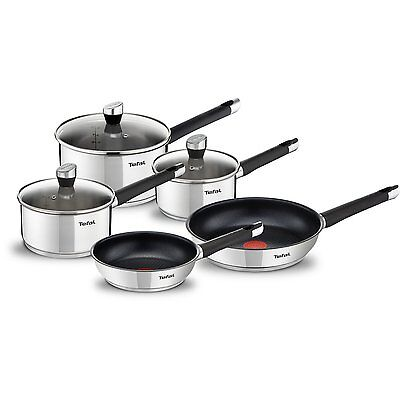 Tefal Emotion Stainless Steel 5 Piece Pan Set, Induction Compatible, NEW, BOXED.