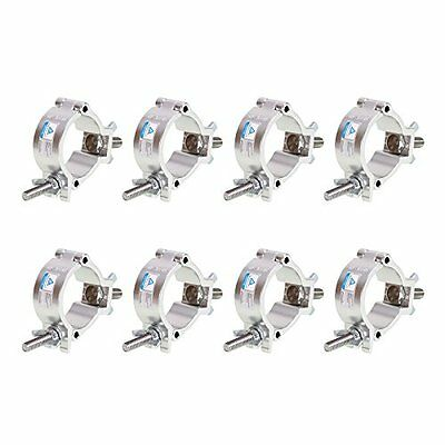 GBGS 8 Pack O-Clamp 2 Inch Lighting Mount Aluminum Alloy Finish Heavy Duty 220