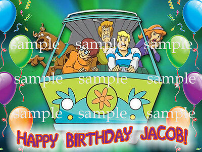 SCOOBY Doo Edible Photo CAKE Image Icing Topper Decoration Personalize Free Ship