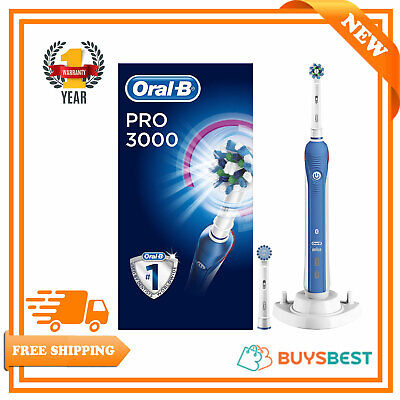 Oral-B Braun CrossAction 3 modes Electric Rechargeable Toothbrush - PRO3000