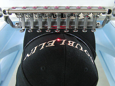 Commercial Embroidery Machine, 4 heads 12 needles,NEW,Cap, Jacket, T-shirt, Flat