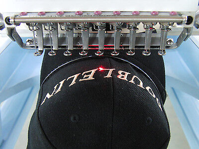 Embroidery machine, 4 heads 12 needles,NEW,Cap, jacket, T-shirt, flat embroidery