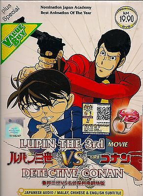 Lupin The 3Rd Vs Detective Conan The Movie Japanese Anime Dvd + Free Shipping