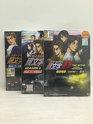 Initial D Stage 5 & 6 + New Movie Legend 1 -Awakening- Japan Anime DVD 3 Box Set