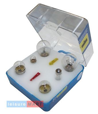 Trailer spare bulb kit with fuses and storage case