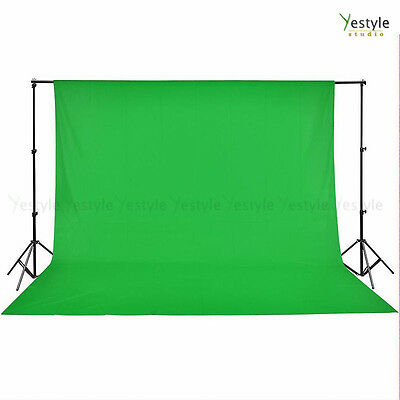3x6m Backdrop CHROMAKEY GREEN Photo Video Screen Background Support Stand Set