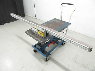 "Flat Belt Conveyor 2"" X 80"" With Motor 1/17Hp 130V Ratio 18:1 (Used and Tested)"