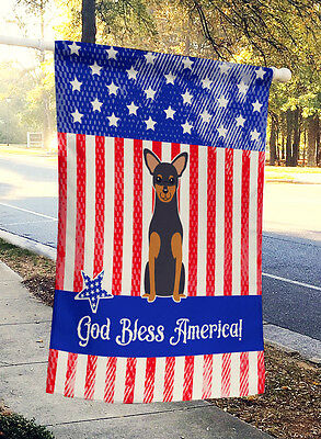 Patriotic USA Manchester Terrier Flag Canvas House Size