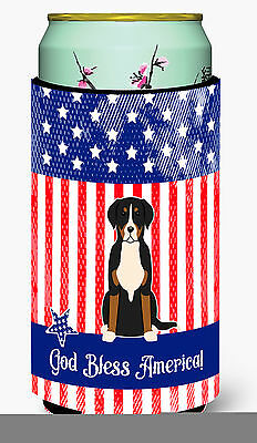 Patriotic USA Greater Swiss Mountain Dog Tall Boy Beverage Insulator Hugger