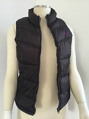 Kids Girls 'Old Navy' Padded Gilet Riding Country Body Warmer - Brown Age 8 - 12