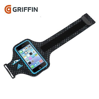 New Genuine Griffin Armband Case For Apple Iphone 5/5S/se - Black Blue