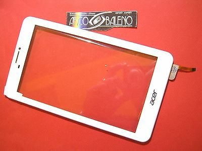 """Gls: Vetro+ Touch Screen +Cover Frame Per Acer Iconia Talk 3G B1-723 7"""" Display"""