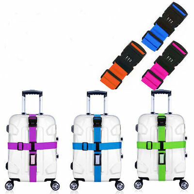 Adjustable Suitcase Combination Luggage strap Travel Baggage Tie Down strap Lock