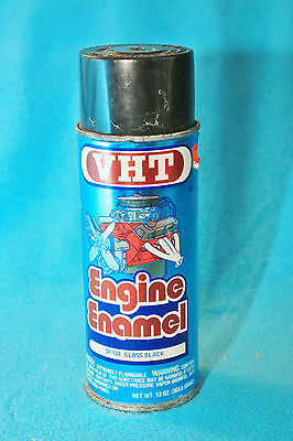 Vintage Vht Engine Enamel Spray Can - Empty