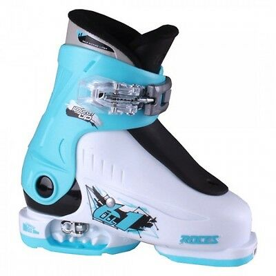 Roces Idea Up Adjustable Kid's Ski Boots New White/Blue/Black 16.0-18.5 Youth