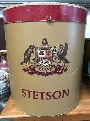 Vintage STETSON Oval Double HAT BOX ----BOX ONLY