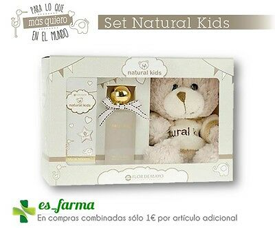 Flor De Mayo Set Natural Kids Colonia Chic Without Alcohol 50 Ml. + Teddy Bear
