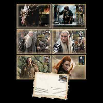 New Zealand Hobbit Battle of Five Armies, 6 Postcards