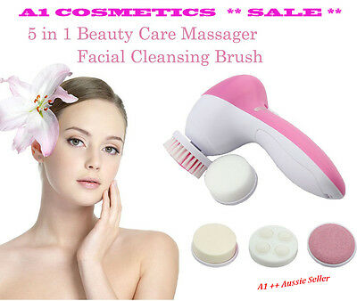 5 in 1 Battery Operated Face/Body Brush Exfoliating Cleansing Kit -  NEW