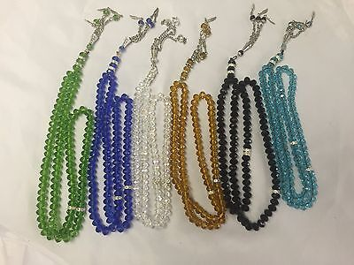 Islamic High Quality Crystal 99 BEADS Tasbeeh (Various colours)