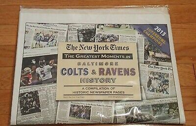 Baltimore Colts & Ravens New York Times Historic Newspaper