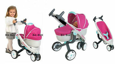 Quinny 3 Wheel Dolls Pushchair and Pram New Design 2016 Smoby Toys new boxed