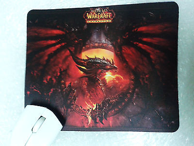 Mat Mouse Mousepad World of Warcraft Wow TCG Dragon Deathwing Ships Worldwide
