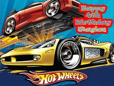 Hot WHEELS Edible Icing Image Decoration Photo CAKE Topper Frosting Sheet