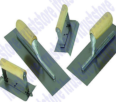 4 Pc Concrete Cement Hand Trowel Finishing Finish Tool Set