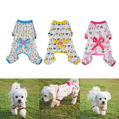 Pet Dog Pajamas Clothes Clothing Puppy Coat Cat Shirt Jumpsuit Apparel Costume