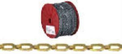 200' Reel  1/0  Brass  Plumber's Safety Chain  WLL 35 LB