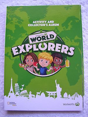BN Woolworths World Explorers Activity & Collector's Album FREE POSTAGE